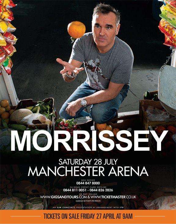 RESEÑA: Morrissey @Manchester Arena, Manchester